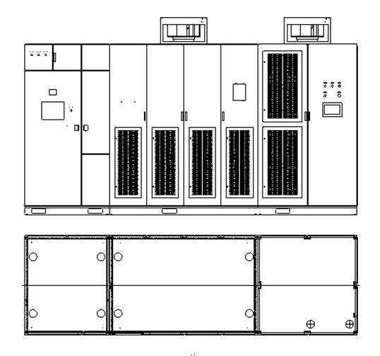 高-高方式 输入采用移相变压器,单元串联方式直接高压输出; 风冷设计 独特的风道设计,在室温50时,设备能可靠运行。采用顶部散热方式,维护方便。风机选用国际知名品牌产品,经久耐用; 模块化设计 单元采用模块化设计,单元可任意互换,单元拆装方便; 友好的人机界面 人机接口采用触摸屏,全中文界面,方便用户操作;报警实时记录,并能对报警准确定位; 可靠的设计 (1)单元与控制部分的通讯采用光纤 (2)单元的热备设计 (3)外围控制部件采用西门子PLC (4)主回路重要器件采用进口优质品牌,所有主回路器件额定运行